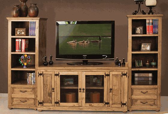 rustic entertainment center I want this