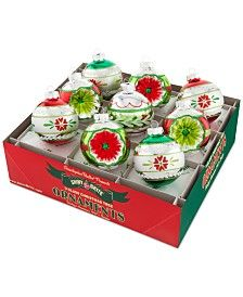 Christopher Radko Holiday Splendor Decorated Rounds with Reflectors