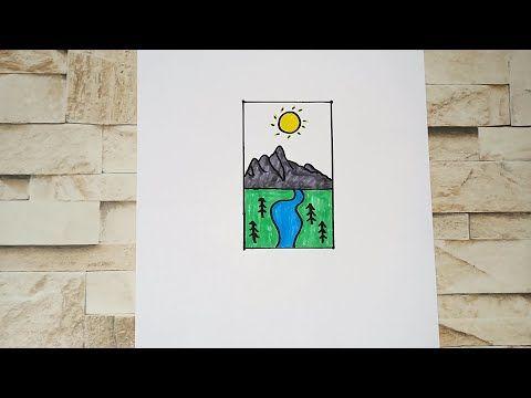رسم سهل تعليم رسم منظر طبيعى سهل خطوه بخطوه للمبتدئين بطريقة سهلة Youtube Art Gaming Logos Logos