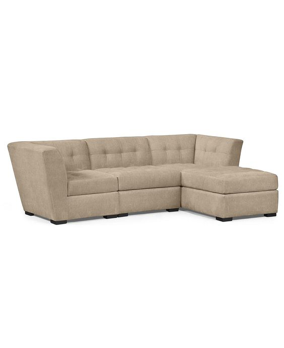 Roxanne fabric 3 piece modular sectional sofa shops for Roxanne sectional sofa macy s