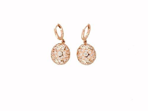les boucles doreilles en diamants et or rose daude lechre