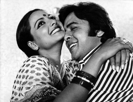 Rekha and Vinod Mehra