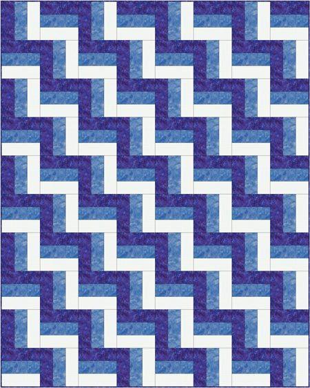 Rail Fence Quilt Pattern Designs / Easy Beginner Quilt Pattern