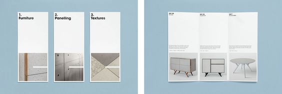 Pamphlet designed by S-T for cement veneer product Cemento featured on BP&O