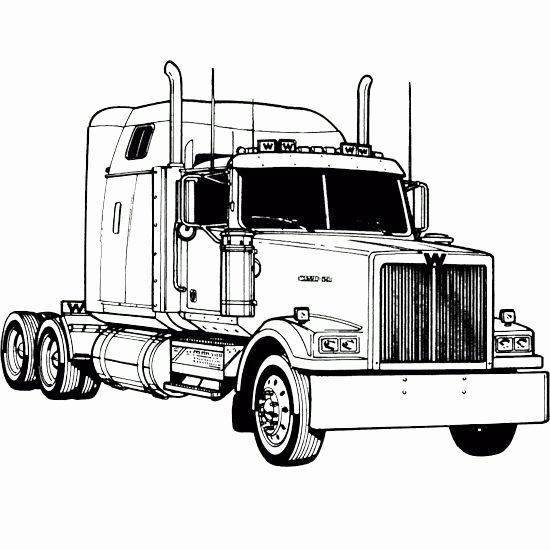 Semi Truck Coloring Page New Peterbilt Semi Truck Coloring Pages Southwestdanceacademy Com In 2020 Truck Coloring Pages Heavy Truck Trucks