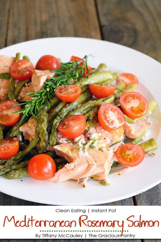 Pressure Cooker Mediterranean Rosemary Salmon Recipe