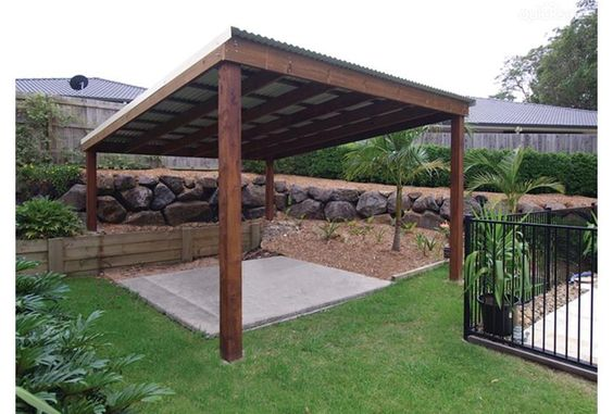 Simple pergola design with metal roof garden ideas for Simple pergola ideas