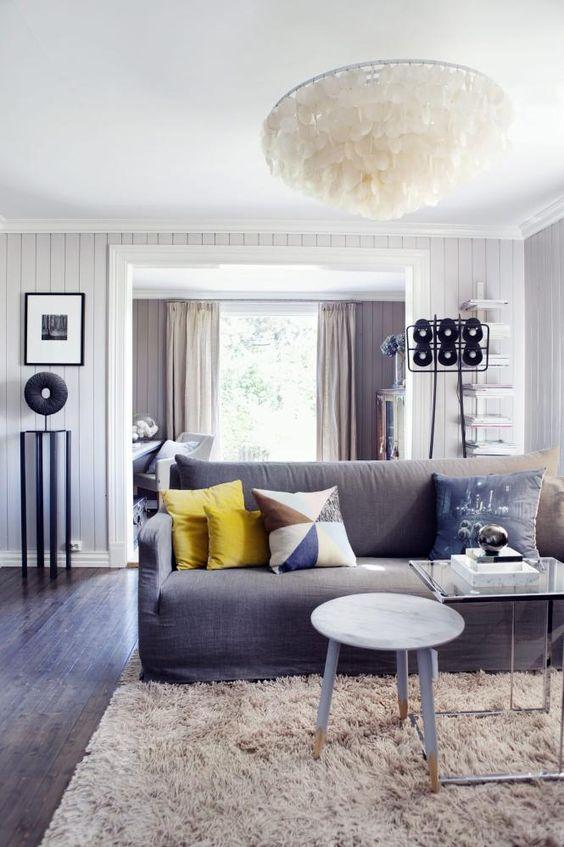 Delikat harmoni: brede døråpningermellom stuene bidrar til ...