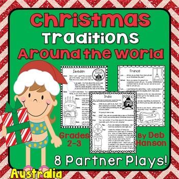 Christmas Partner Plays for students in grades 2-3! Perfect for a center activity or for Daily 5 Read to Someone. Students love the scripts!