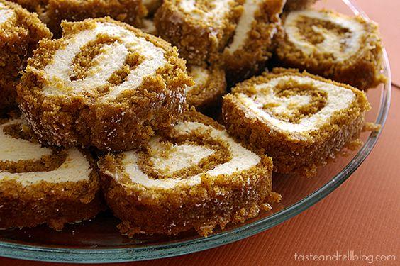 Pumpkin Cake Roll | www.tasteandtellblog.com