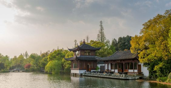 The gorgeous forest surrounding West Lake in Hangzhou, China. #Asia #China #forest #Hangzhou #lake #nature #travel #WestLake