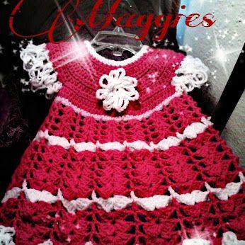 a crocheted dress,..