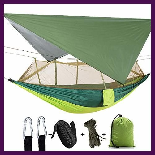 2 Person Camping Hammock Camping Tree Hammock Heavy Duty Waterproof Lightweight Two Person Hammock Camping Hammock With Mosquito Net Tent