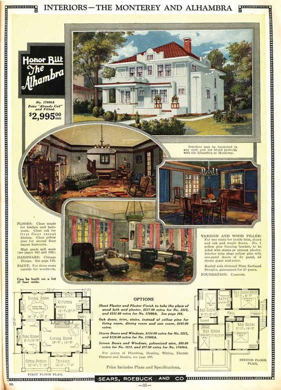 Its very close to the Sears Alhambra, and in the 1924 catalog, theyre on opposing sides of the same page.