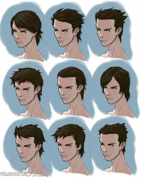 Hairstyle Reference In 2020 Drawing Male Hair Hair Reference How To Draw Hair