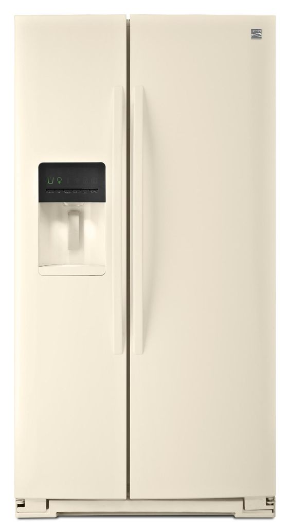 Side By Side Refrigerator   Bisque Sears