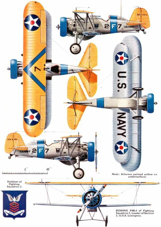 Boeing F4b 4 Us Navy 1930s Vintage Aircraft Aviation Posters Wwii Aircraft