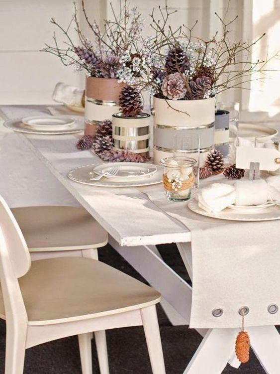 Décorer la table de Noël, c'est un réel plaisir!