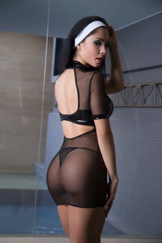 Fantasia Sexy Noviça costas