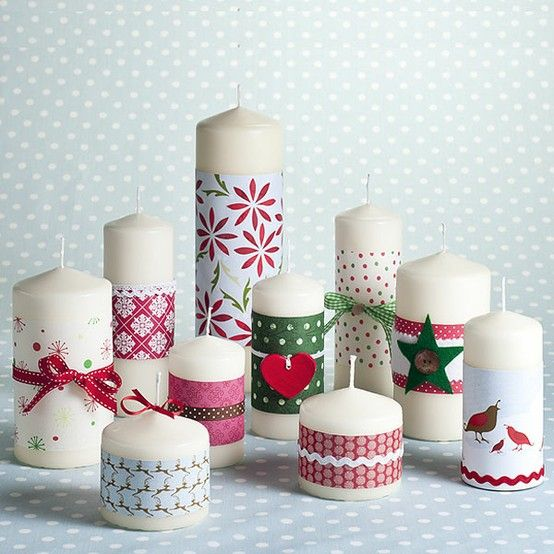 17 mejores im genes sobre dos personas decoupage diy y manualidades y navidad - Velas decoradas para navidad ...