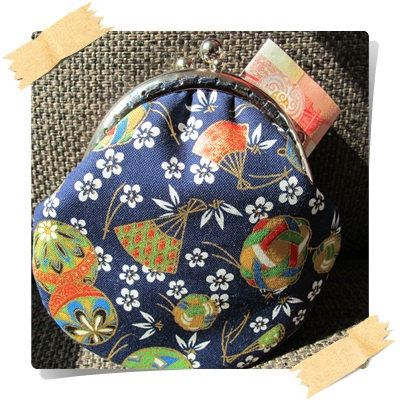 Handmade Coin Purse  Japan Kimono in Blue by Apursemarket on Etsy, $20.00