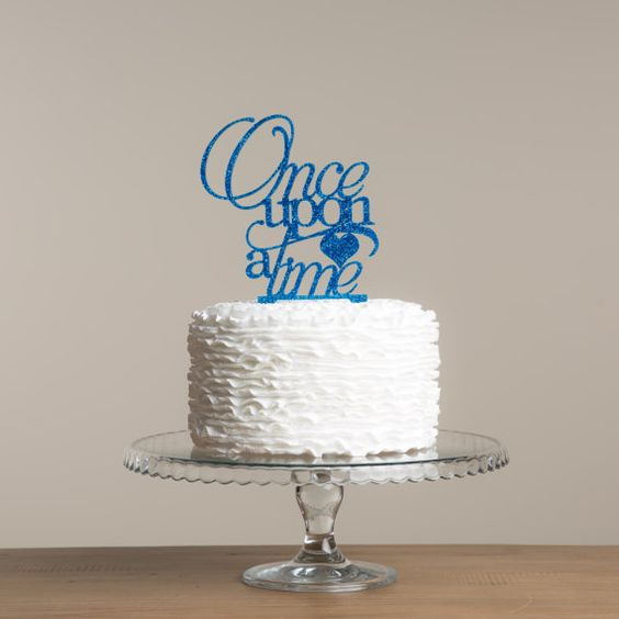 Once Upon a Time cake topper by FunkyLaser on Etsy