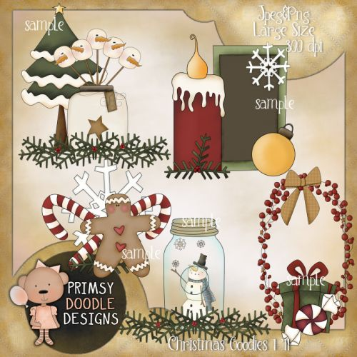 11- Christmas Goodies 1 - $1.00 : Primsy Doodle Designs, Country ...