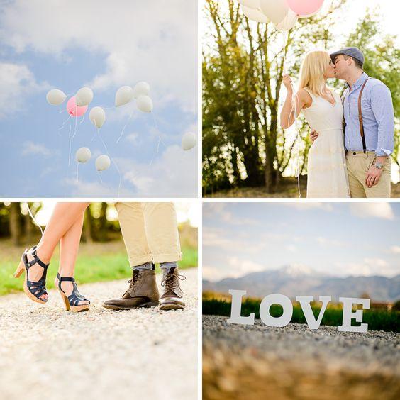 Lichtmädchen Fotografie | Pärchen, Paarfotos, Couple, Engagement, in love, verliebt, Frühling, Spring, Balloons, outdoor