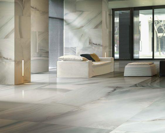 Alabaster marble flooring of shiny ceramic tiles  Alabastri Collection. Alabaster marble flooring of shiny ceramic tiles  Alabastri