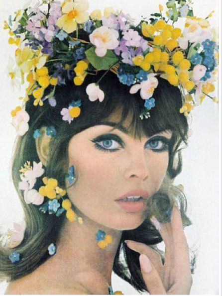 Floral Crown 1960s model Jean Shrimpton: