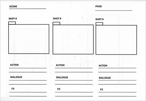 Storyboard Template  Storyboard Templates