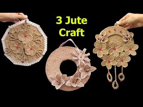 3 Jute Wall Decor Ideas At Home Handmade Wall Hanging With Burlap Jute Rope Wall Mat Showpiece Yo In 2020 Handmade Wall Hanging Jute Crafts Handmade Wall Decor