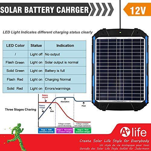 Suner Power Waterproof 12v Solar Battery Charger Maintainer Pro Built In Intelligent Mppt Solar Battery Charger Solar Battery Solar Charger