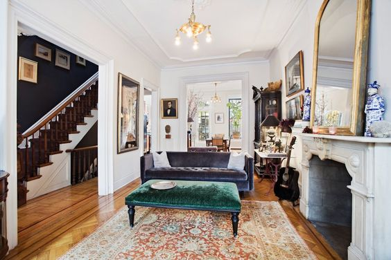 Brownstone interiors interiors and figs on pinterest for New york brownstone interior design