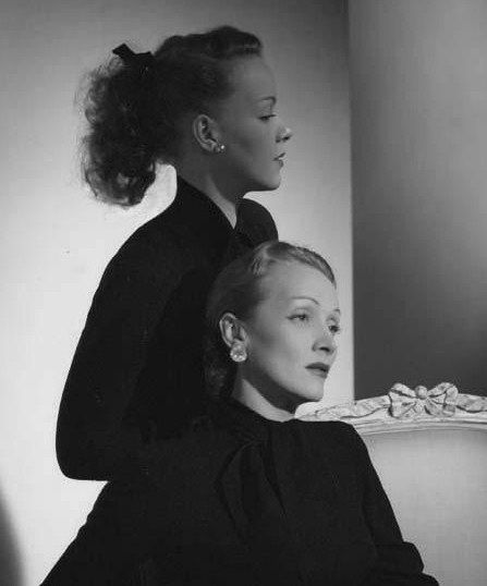 Marlene Dietrich and her daughter Maria Riva by Horst P. Horst, 1947:
