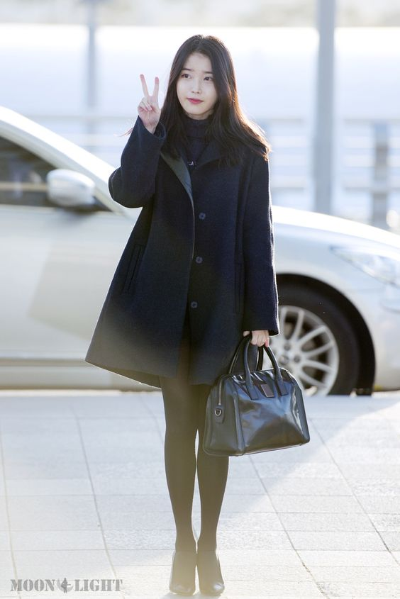 Iu 39 S Airport Fashion 141202 Iu Style Pinterest Coats Kpop And Airport Fashion