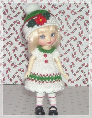 White Fair Isle Dress Hat and Tights