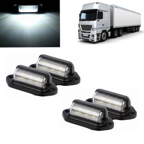 4x 6leds Lampe Plaque D Immatriculation De Bateau Rv Camion Remorque 12v 24v Ebay Led Fog Lights Jeep Bumpers Led Light Bars
