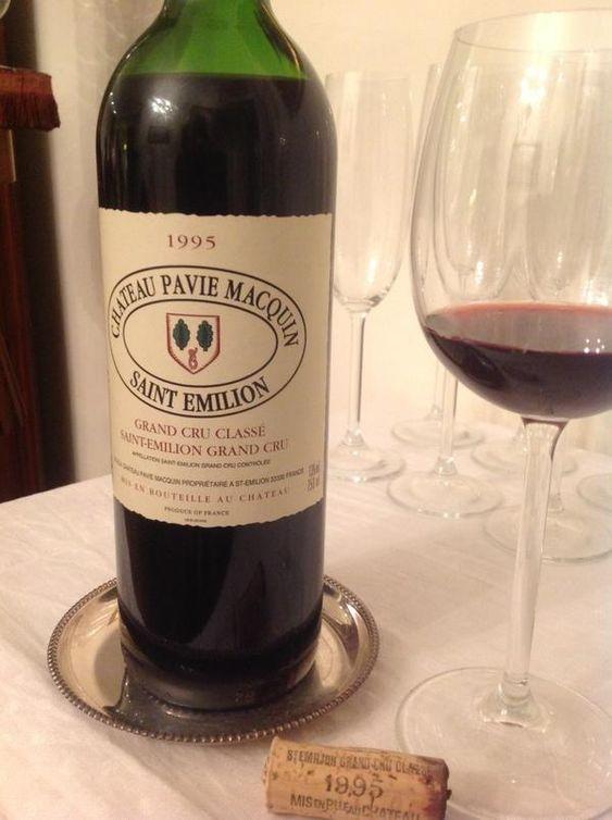 Château Pavie Macquin 1995. Excellent wine from Saint Emilion region in Bourdeaux.
