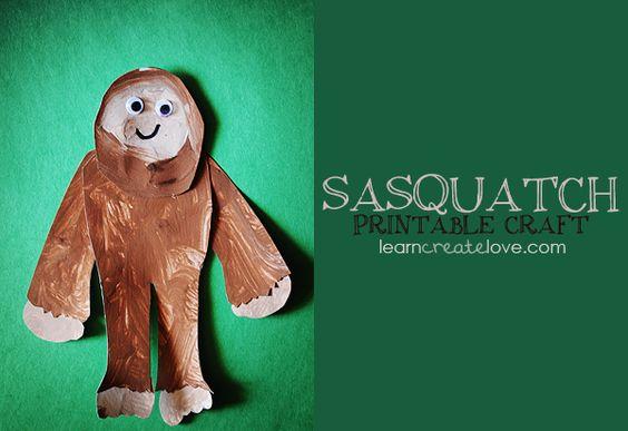 { Printable Sasquatch Craft }