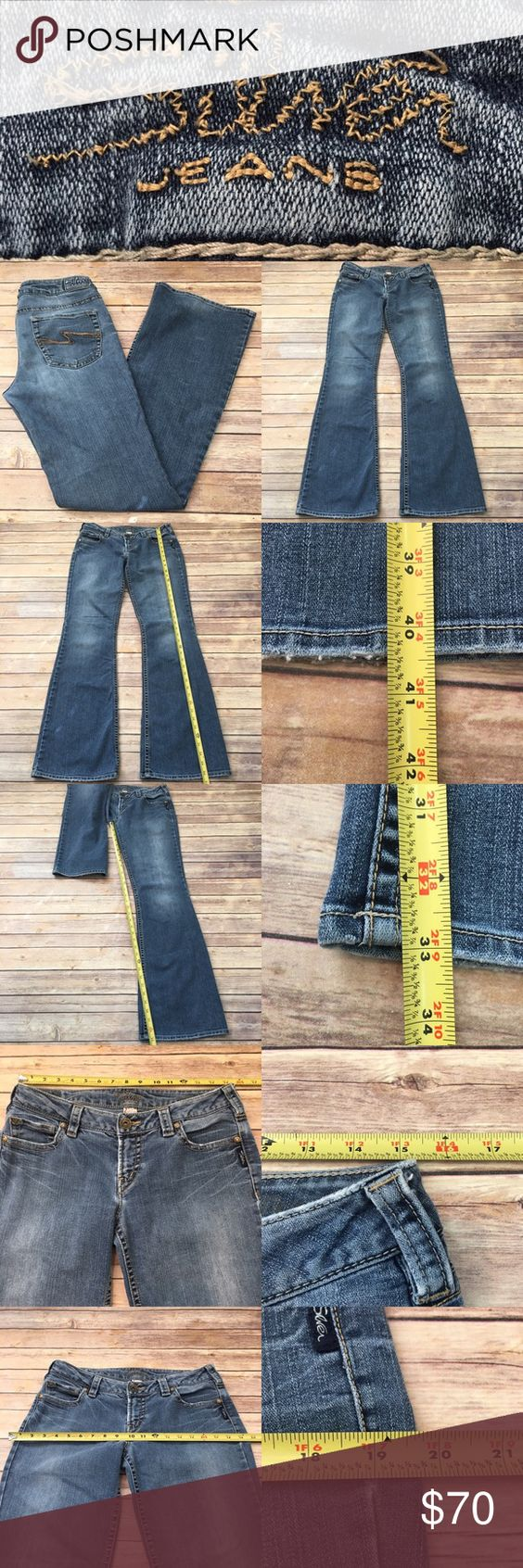 🏝Size 30 Long Silver Jeans Aiko Flare Denim Jeans