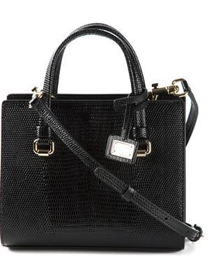 small snakeskin effect tote
