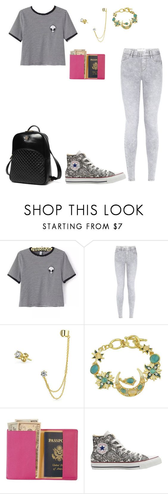 """""""Untitled #624"""" by sweet-brownsuga ❤ liked on Polyvore featuring Bling Jewelry, Royce Leather, Converse and Princess Carousel"""