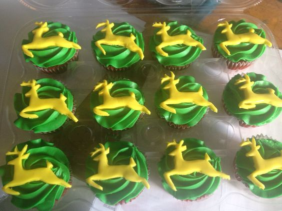 John Deere cupcakes! By today's sweet cakery