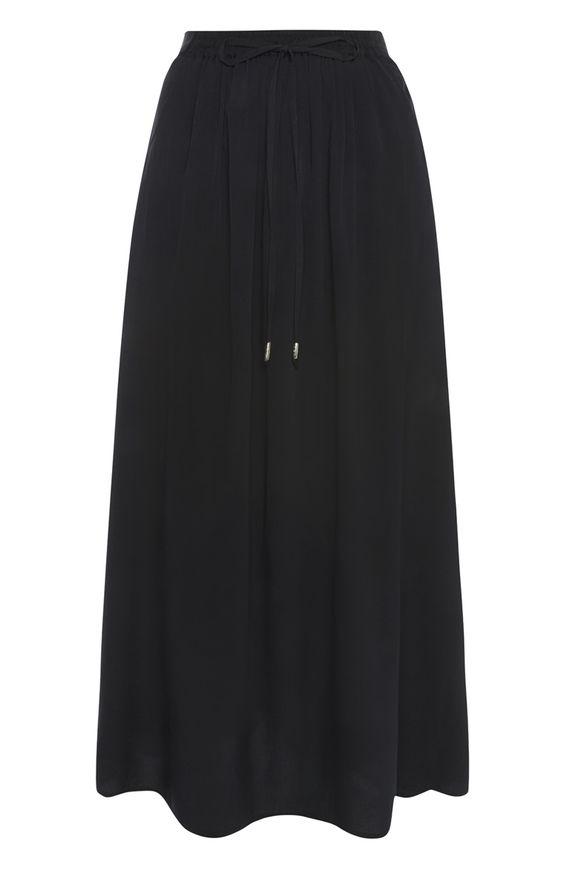 Einfarbiges, schwarzes Maxishirt   ★ wishful wardrobe ...