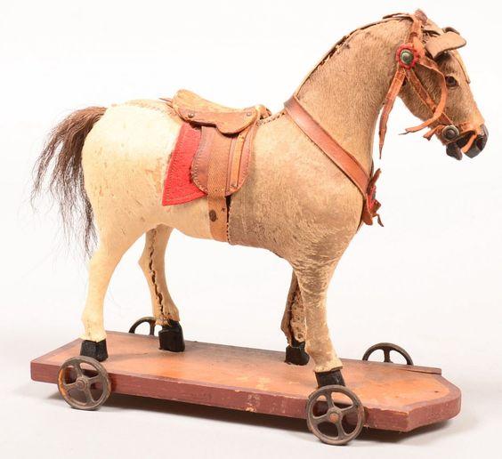 Antique pull horse.