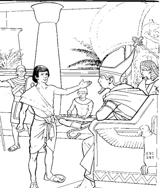 Joseph Interpreting Pharaohs Dreams Bible Coloring Page