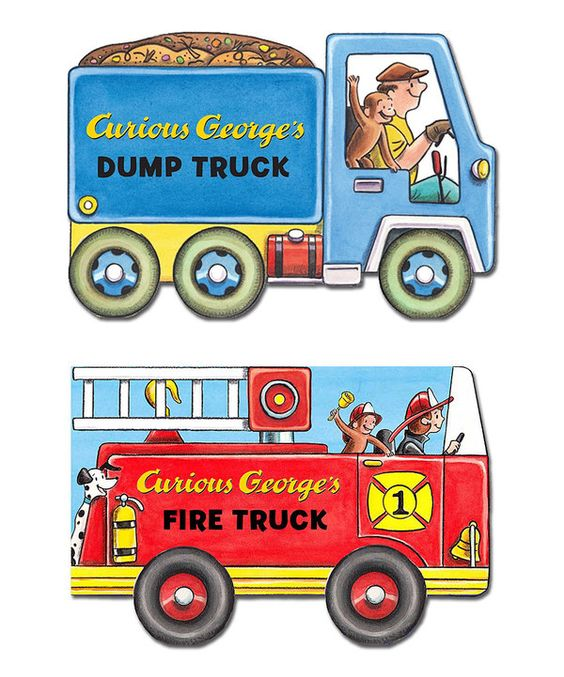 Look at this Curious George Fire Truck Mini Movers Board Book on #zulily today!