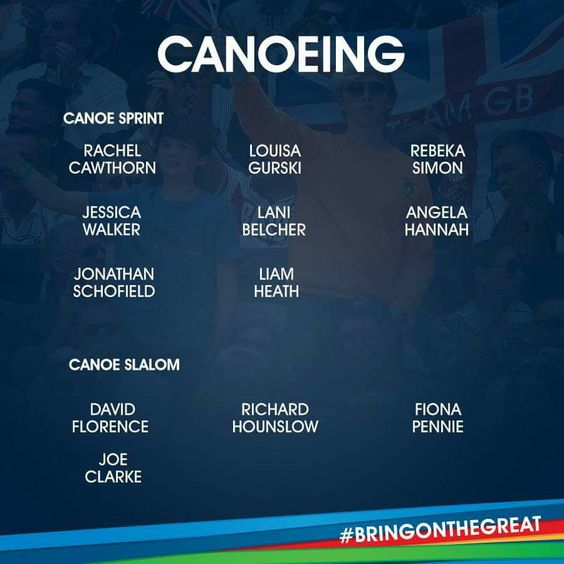 Canoeing Team GB Rio 2016