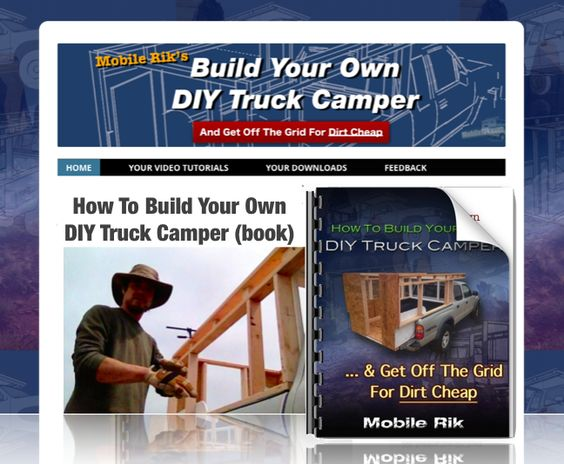 Truck camper dirt cheap and truck bed on pinterest for Build your own house california